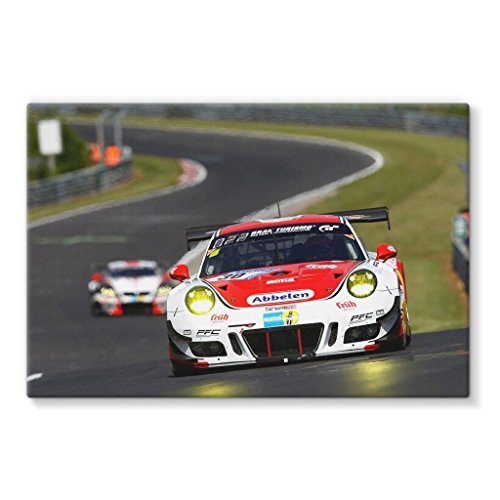 30 Frikadelli Racing Team, Porsche 991 GT3-R - Stretched Canvas by Motorstore Gallery