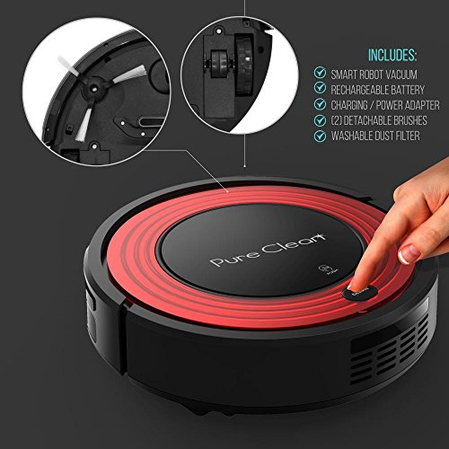 Automatic Programmable Robot Vacuum Cleaner Filter Pet Allergies Friendly with Self Activation Charge