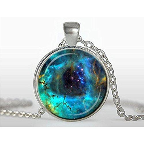- Galaxy Glass Pendant, Galaxy Charm, Solar System Pendant,galaxy Necklace,galaxy Jewelry