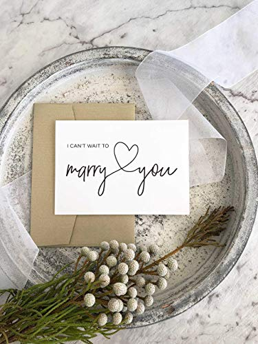 I Can't Wait to Marry You Bride to Groom Wedding Day Card