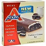 4 Pack of Atkins Advantage Bar Cookies n Creme - 5 Bars - - -