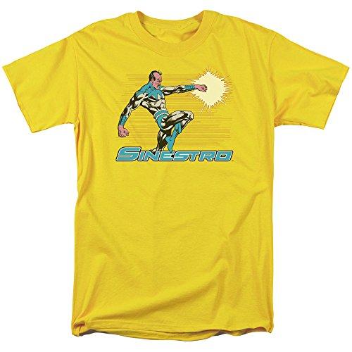 (Trevco Men's Green Lantern Short Sleeve T-Shirt, Yellow, XX-Large)