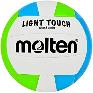 Molten MS240–3 Light Touch Volleyball, Rouge/Blanc/Bleu MS240-GB Green/Blue/White 12 & Under/8.1 oz