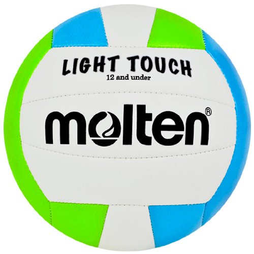 Molten MS240-3 Light Touch Volleyball, Green/Blue/White