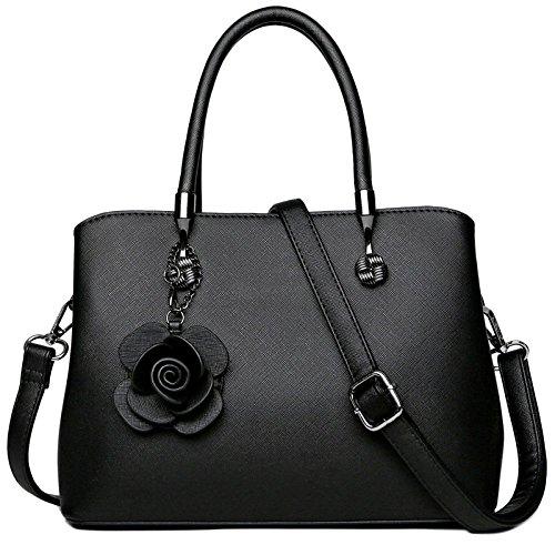 Diagonale Sac Sac Mode Pendentif à en Black Femmes WKNBEU Main Noir Cuir Marron Bandoulière à Rouge Sacs Cadeau qvwPYC