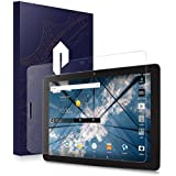 at&T Primetime Tablet Screen Protector, Poetic [Full Coverage][HD Clear][Case Friendly][Anti-Fingerprint] Premium Edge-to-Edge Tempered Glass Screen Protector for ATT Primetime Clear