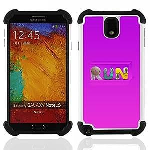 """SAMSUNG Galaxy Note 3 III / N9000 / N9005 - 3 en 1 impreso colorido de Altas Prestaciones PC Funda chaqueta Negro cubierta gel silicona suave (carrera"""")"""