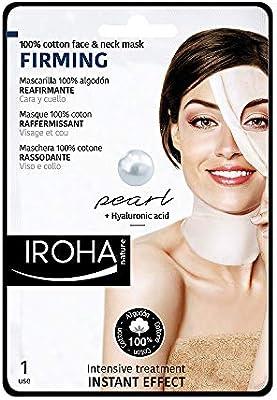 Iroha Nature - Mascarilla Cara y Cuello de Algodón con Perla y ...