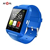 Amazingforless Bluetooth Touch Screen Smart Wrist Watch (U8 - Blue)