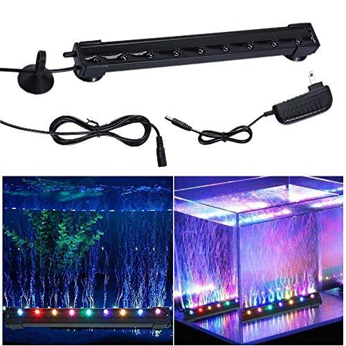 - Decoroom Aquarium Bubble Wand Lights LED Fish Tank Light Submersible Underwater Lamps Multi Color Slow Flash 7 Color