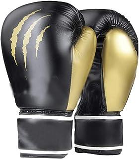 Gants d'entraînement Gants De Boxe Professionnel Motif Griffe De Loup Noir Et Blanc Coton Air Doublure Monopièce Durable Respirant Confort Cadeau (Color : Blanc, Size : 12oz)