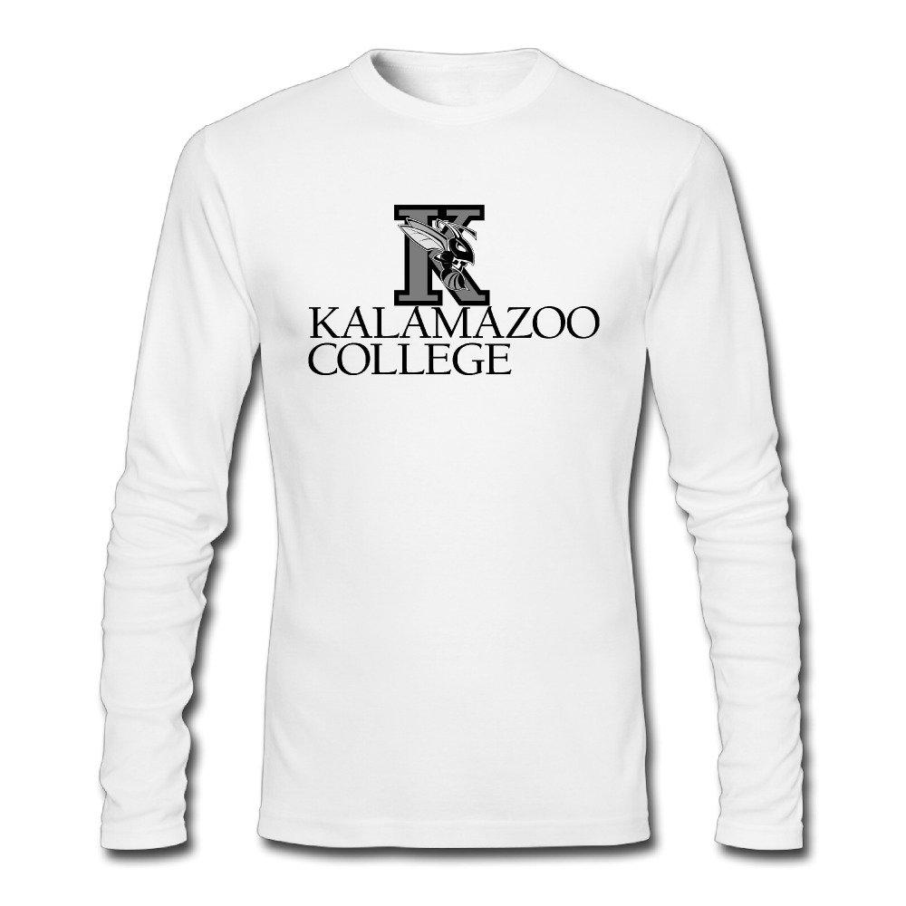 b17e319afe4 Amazon.com  Fanlig Men s Kalamazoo College Long Sleeve Crew Neck White T- shirts  Clothing