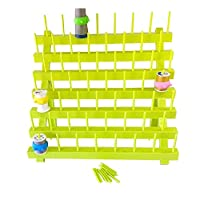 PeavyTailor Sewing Thread Rack Sewing Cone Storage Organizer Embroidery Thread Organizer - Green