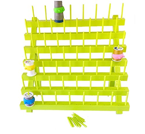 (PeavyTailor Sewing Thread Rack Sewing Cone Storage Organizer Embroidery Thread Organizer - Green)