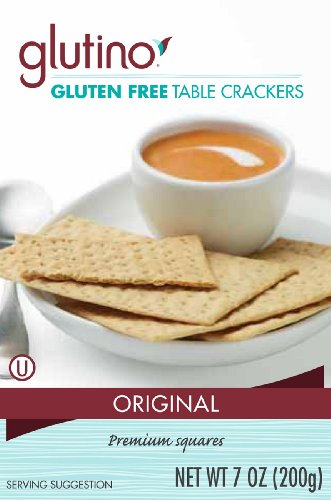 Glutino Crackers Free Gluten (Glutino Crackers, Table, 7-Ounce (Pack of 6))