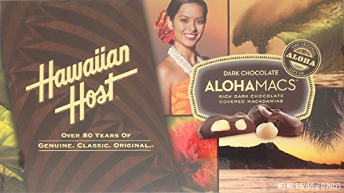 Hawaiian Host AlohaMacs Dark Chocolate 6 oz Box (Pack of 3)