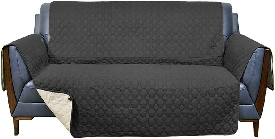 RBSC Home 46 Inch Loveseat Cover - 100% Waterproof Anti-Slip Couch Covers for Leather Loveseat, Pets, Dogs,Cats Washable Protector(46