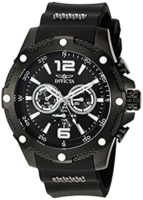 Invicta Men's 19662 I-Force Analog Display Swiss Quartz Black Watch
