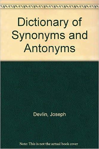 Synonyms antonyms | Ebook Pdf Free Download Sites
