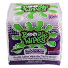 Boogie Wipes Natural Saline Kids and Baby Nose Wipes for Cold and Flu,Grape Scent, 90 Count