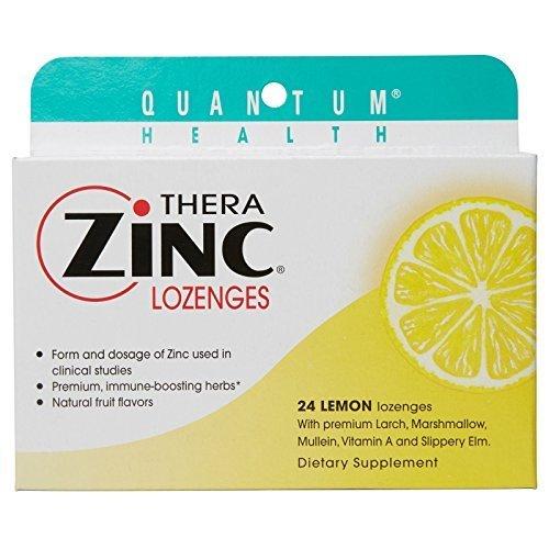 Quantum Therazinc Lemon, 24 Ct Acetate Lozenges, 0.5 Units by Quantum