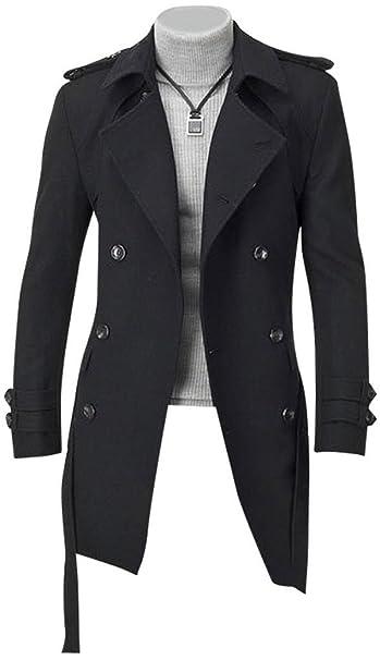 Jeansian Abrigos Y Chaquetas De Los Hombres Moda Estilo Largo Espeso Fashion Long Style Thickened Outwear 8948: Amazon.es: Ropa y accesorios