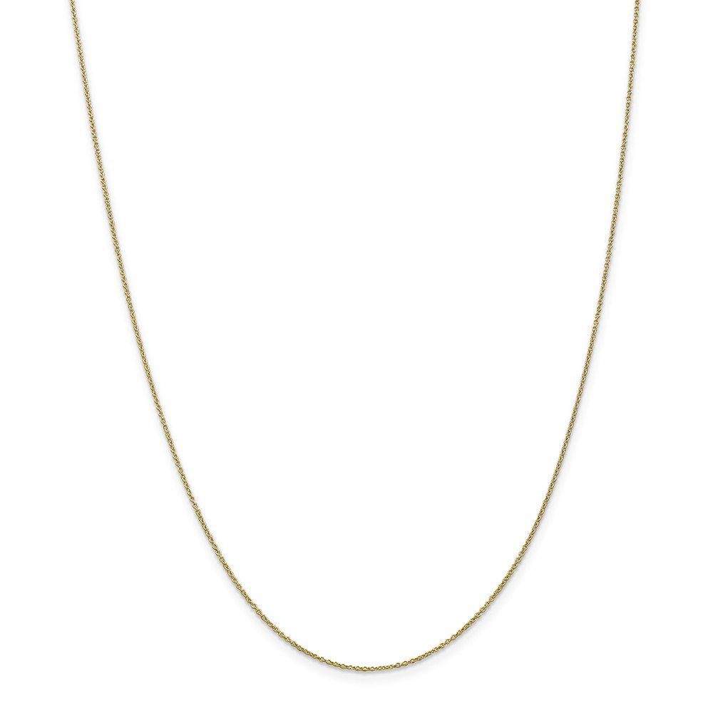 Brilliant Bijou 10k Solid White Gold Cable Chain Necklace