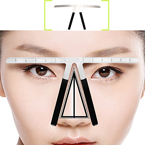 AORAEM Eyebrow Ruler Grooming Makeup Stencil Shaper Three-Point Positioning Measure Symmetrical Tool