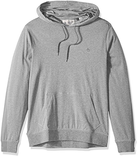 Penguin Jersey Sweater - Original Penguin Men's Pima Jersey Hoodie, Mirage Gray, Large