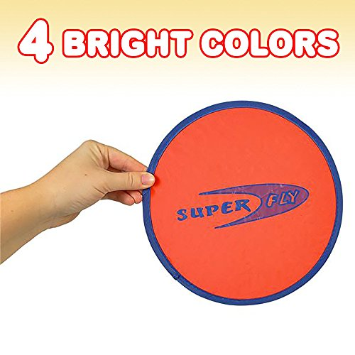 ArtCreativity Folding Pocket Frisbee Set (12 Pack) | Foldable Frisbees for Kids and Adults | Colorful Flying Disc Toys | Fun Birthday Party Favors for Boys and Girls/ Summer Outdoor Activity Game by ArtCreativity (Image #4)