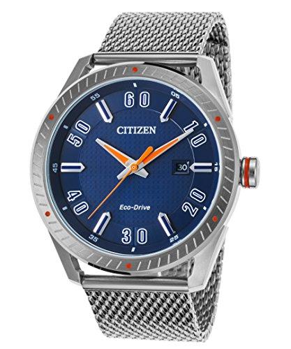 Men's Drive from Citizen Eco-Drive CTO Blue Dial Stainless Steel Watch BM6990-55L Citizen Blue Dial