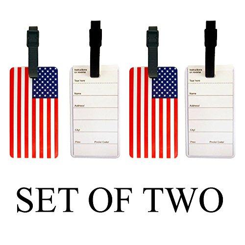 American Flag Luggage and Bag Tags - Set of 2 ()