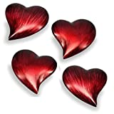 Modern Day Accents Corazon Small Heart Paperweight In Set of 4