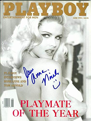 Autograph Warehouse 378021 Anna Nicole Smith Autographed Playboy Magazine by Autograph Warehouse