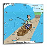 3dRose Fishing with God – Wall Clock, 15 by 15-Inch (dpp_2605_3) Review