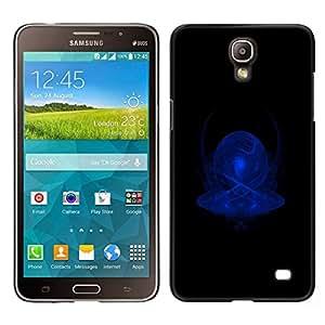 Caucho caso de Shell duro de la cubierta de accesorios de protección BY RAYDREAMMM - Samsung Galaxy Mega 2 - Imágenes abstractas en azul