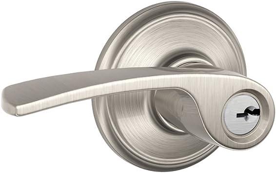 Schlage Merano Door Lever Handle Keyed Entry Lock Passage Hall Closet Silver NEW
