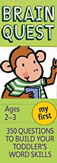 My First Brain Quest, revised 4th edition: 350 Questions and Answers to Build Your Toddlers Word Skills (0761166629) | Amazon Products
