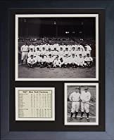 11x14 FRAMED 1927 NEW YORK YANKEES 8X10 TEAM PHOTO BABE RUTH LOU GEHRIG B&W