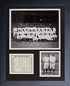 11x14 FRAMED 1927 NEW YORK YANKEES 8X10 TEAM PHOTO BABE RUTH LOU GEHRIG B&W