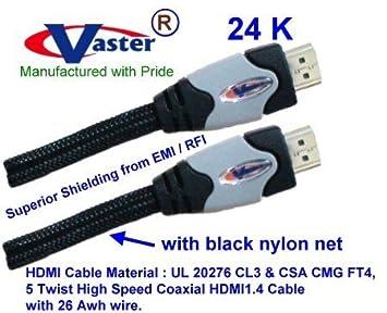 HDMI1.4 Cable, HDMI de Alta Velocidad 1.4 V 1080p Digital 26 AWG ...