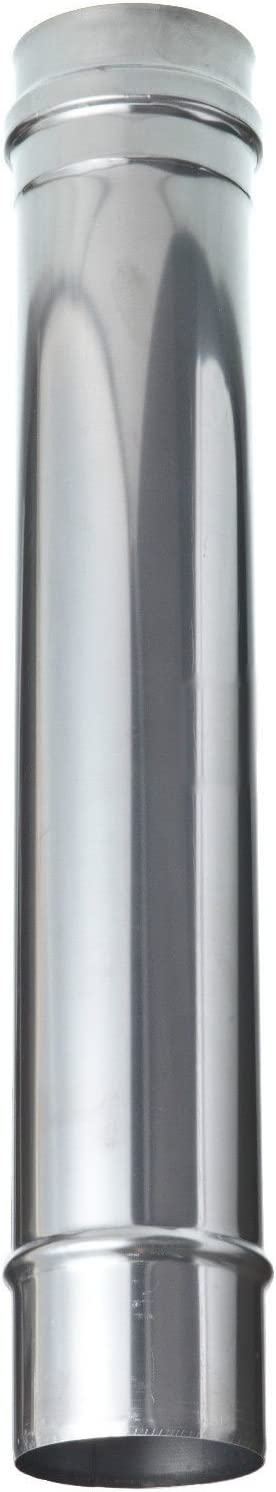L 500mm Tube droit rigide Inox simple paroi /ø180mm