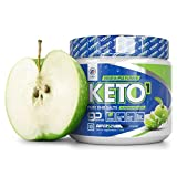 Exogenous Ketones Supplement with Beta Hydroxybutyrate BHB Salts for the Ketogenic Diet – Keto Powder Drink to Help Reach Ketosis, Burn Fat, Reduce Stress, and Boost Energy (Sour Apple, 10 Servings)