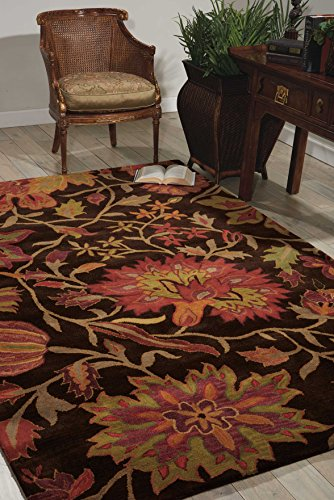 (Nourison Jaipur (JA41) Chocolate Rectangle Area Rug, 5-Feet 6-Inches by 8-Feet 6-Inches (5'6