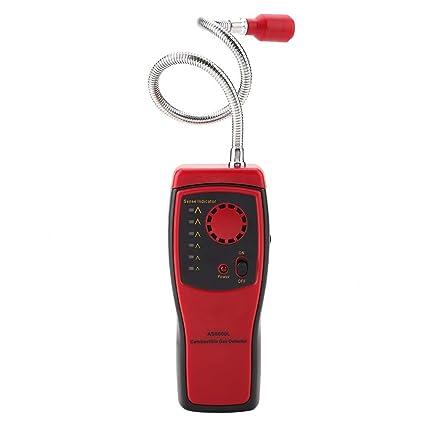 SMART SENSOR AS8800L Rojo Detector de gas inflamable portátil Analizador de probador de fugas de gas