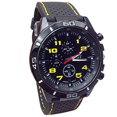 SMTSMT Quartz Watch Men Military Watches Sport Wrist watch-Yellow