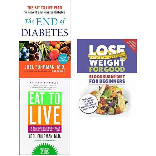 Price comparison product image End of diabetes,  eat to live and blood sugar diet 3 books collection set