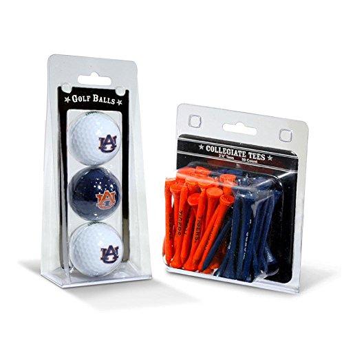 Team Golf NCAA Auburn University Tigers Logo Imprinted Golf Balls (3 Count) & 2-3/4