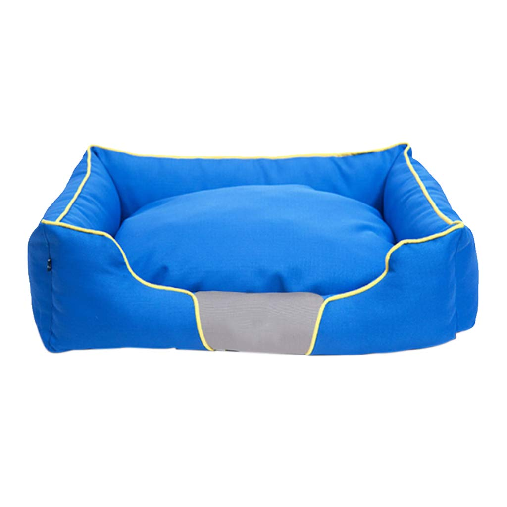 S CJZ GW Dog bed Dog Bed, Winter Wear Resistant Comfortable Warm Washable Not Sticky Hair Pet Basket Mat Cushion Small Medium Large XL bluee House (Size   S)