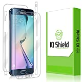 IQ Shield LiQuidSkin Screen Protector with Full Body for Samsung Galaxy S6 Edge - Clear (Frustration-Free Retail Packaging)